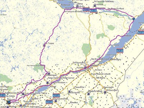 Boucle St-Jérome vers lac St-Jean